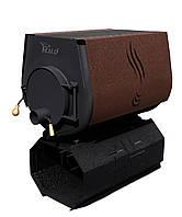 Отопительная печь Rud Pyrotron Кантри 03 с варочной поверхностью (отапливаемая площадь 240 кв.м. х 2,5 м) Обшивка декоративная (коричневая)