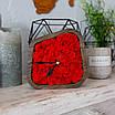Часы деревяные настольные с мхом (15*15*4 см), фото 2