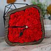 Часы деревяные настольные с мхом (15*15*4 см), фото 3