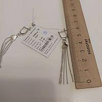 Сережки срібло серьги серебро 5585 родированные