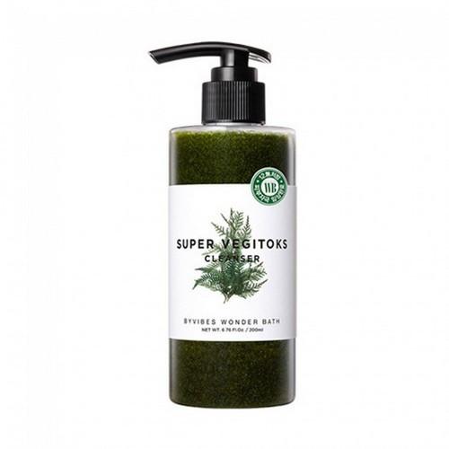 Детокс-средство гель-пенка для умывания 2 в 1 Wonder Bath Super Vegitoks Cleanser - Green