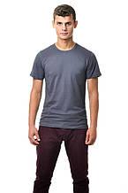 Чоловіча футболка бавовняна натуральна темно-сіра
