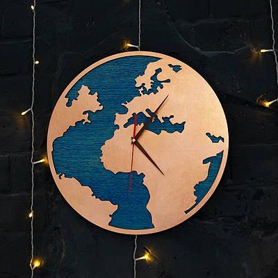 Часы карта с ефектом бронзы