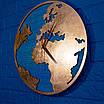 Часы карта с ефектом бронзы, фото 4