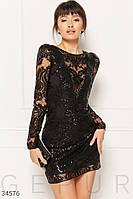 Женское мерцающее платье с глубоким декольте ХС С М Л