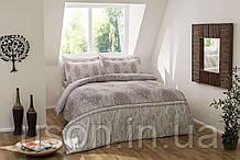 Комплект постельного белья Tac cатин- digital евро размер  Elise gri