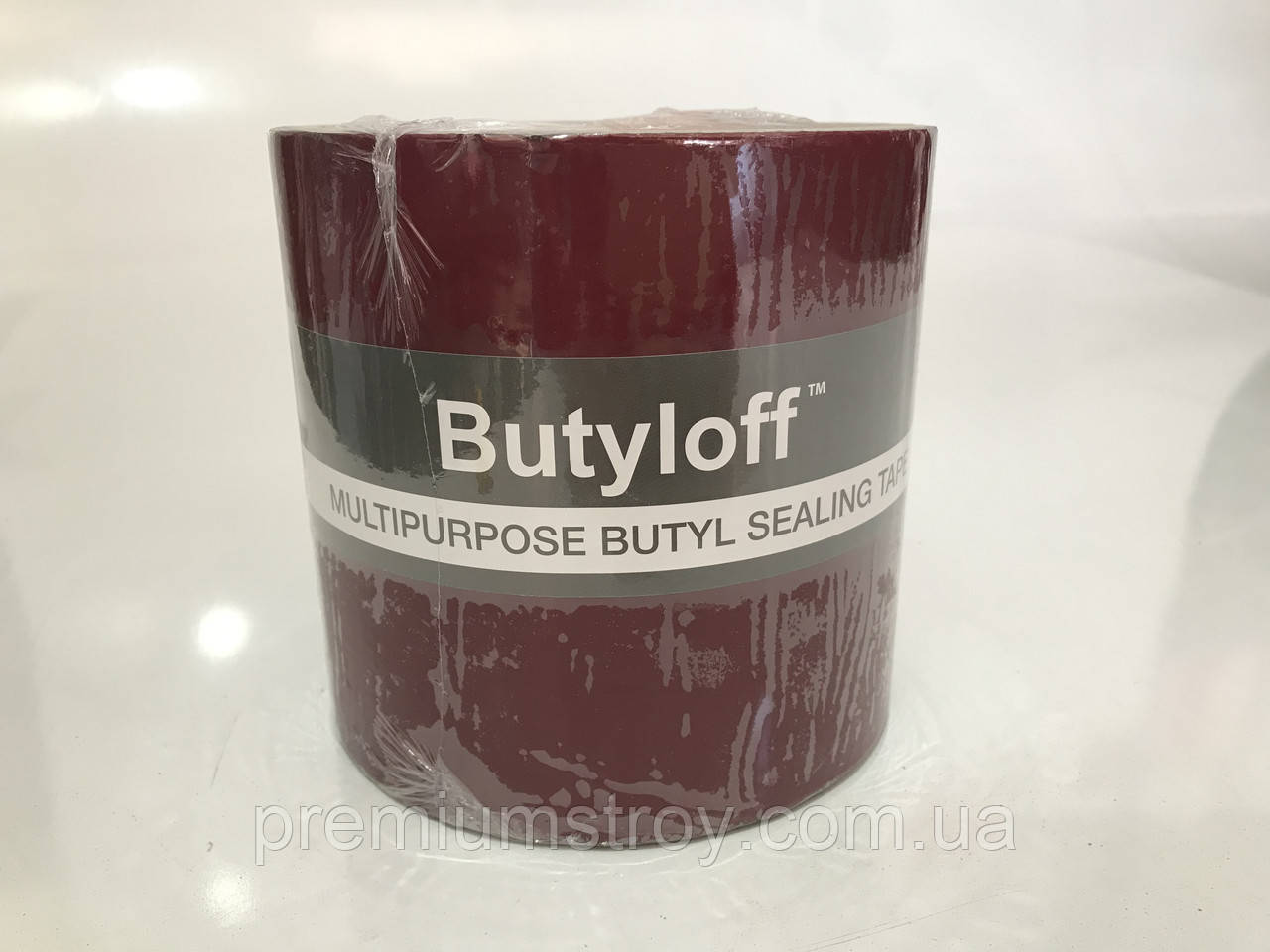 Стрічка бутилкаучакавая бордова Butyloff 100 мм х 10 м