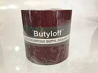 Стрічка бутилкаучакавая бордова Butyloff 100 мм х 10 м, фото 1