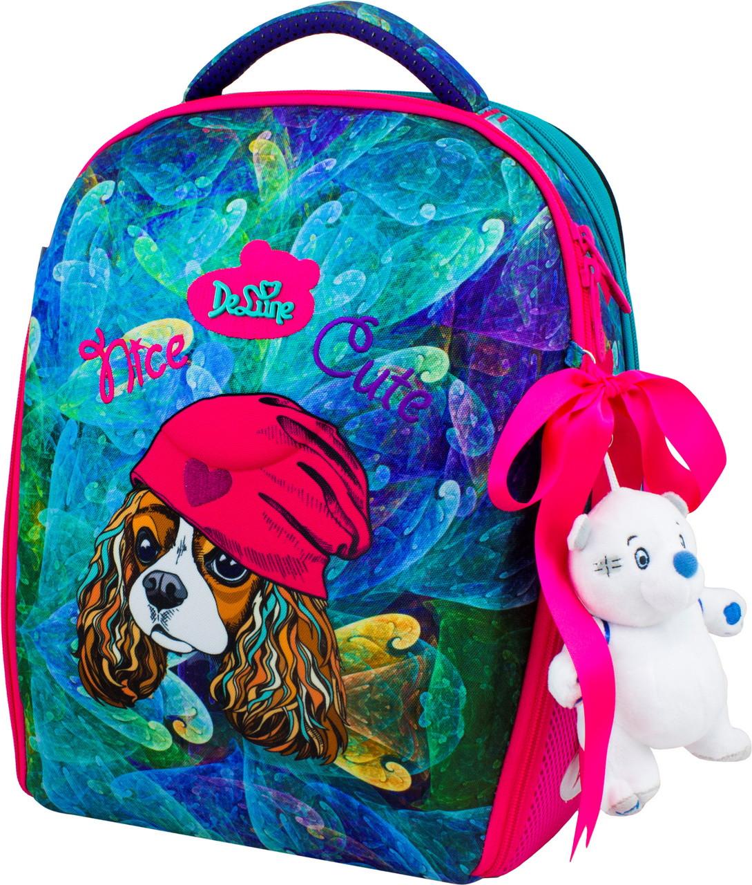 Школьный ранец рюкзак набор DeLune (рюкзак+сменка+брелок) 7-148