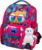 Школьный рюкзак для девочек DeLune (рюкзак+сменка+брелок) 11-025