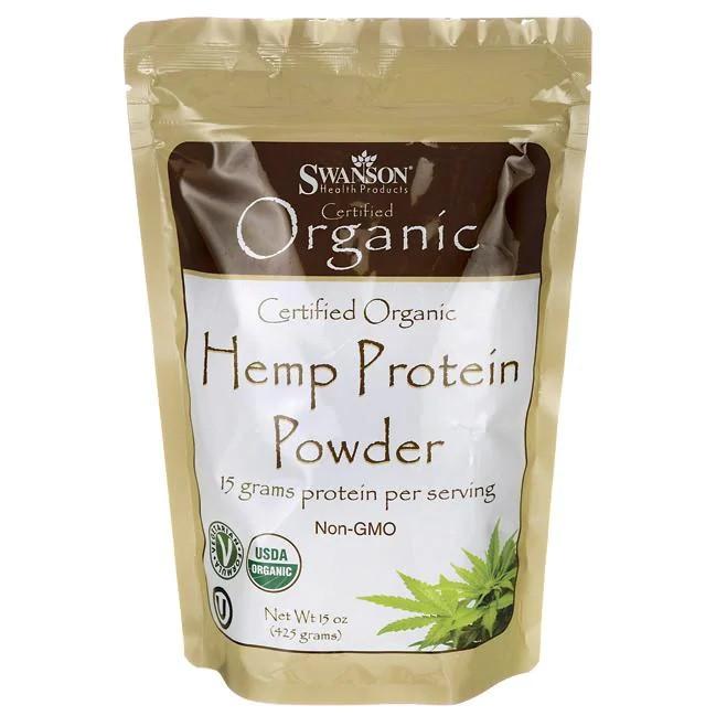 Swanson Organic Hemp Protein органічний протеїни з конопель без смакових добавок 425 гр. пр-во Канада. Кошер