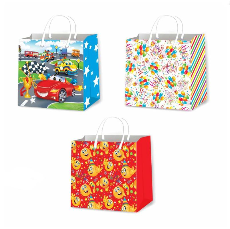 Пакеты для подарков детские размер 24 х 24 см (12 шт/уп)