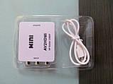 Конвертер (AV) RCA \ CVBS на HDMI тюльпан, адаптер відео зі звуком 1080P, фото 5