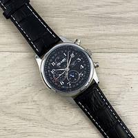 Механические мужские часы Longines Collection Moonphases Silver-Black Механика с автоподзаводом