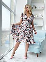 Платье 1104 cофт на запах 52-54