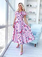 Платье на запах длина ниже колена 48-54