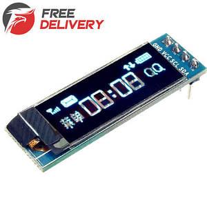 OLED дисплей графический SSD1306 I2C 0.91'' 128x32 Arduino AVR STM32