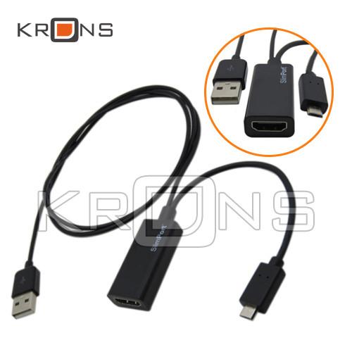 SlimPort адаптер, переходник с MicroUSB на HDMI + 1м USB для подзарядки