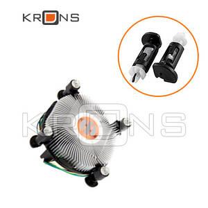 Крепление клипса 4 шт, ножка радиатора кулера LGA 775 1150 1155 1156 1366