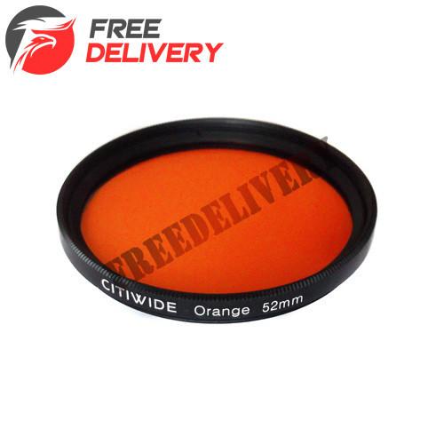 Цветной фильтр 52мм оранжевый, CITIWIDE