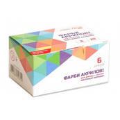 Набор акриловых красок 6 цветов матовые пастельные, 20 мл ROSA