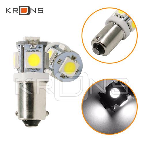 Лампа в автомобіль 2шт LED BA9S T4W, 4+1 SMD