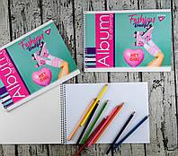 Альбом для рисования А4 20 листов На спирали Fashion beauty 130385 25598Ф+ YES