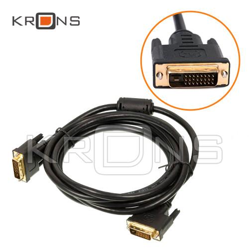 DVI 24+1 кабель 3м папа-папа позолоченный