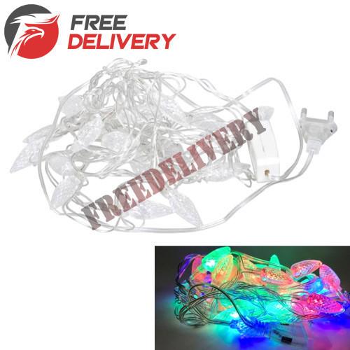 Гирлянда светодиодная новогодняя цветная Шишки 20 LED ламп 4.5м