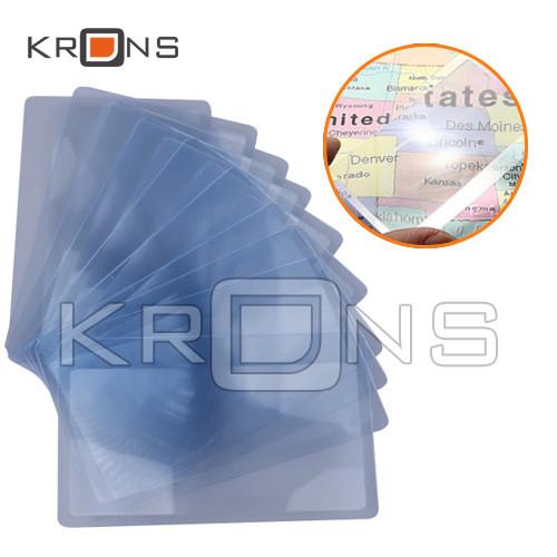 Увеличительное стекло 10шт 3X лупа, линза Френеля, гибкая карточка