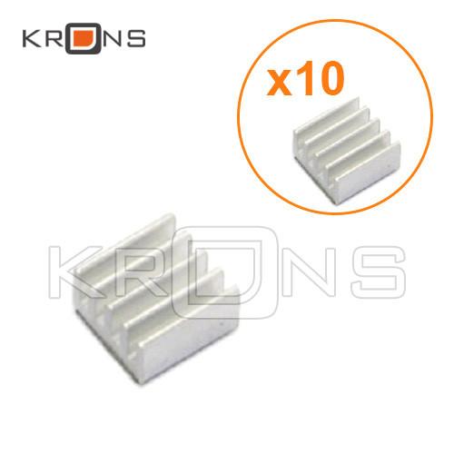 Алюмінієвий радіатор 10шт міні 11х11х5мм для Raspberry PI