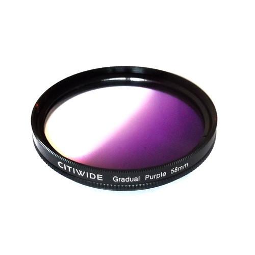Цветной фильтр 58мм фиолетовый градиент, CITIWIDE