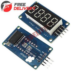 4-разрядный 7-сегментный индикатор под часы на драйвере TM1637 Arduino