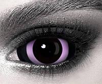 Склеральные контактные линзы Хоррор Фіолет, склеры 22 мм. (N0059)