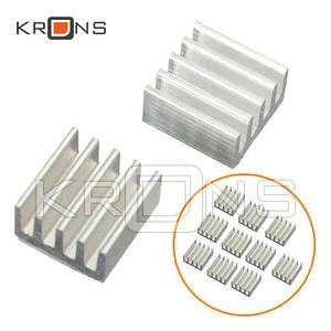 Радиаторы 10шт алюминиевые 9х9х5мм для Raspberry PI