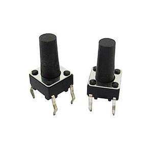 10x Кнопка тактовая, микрик, DIP 4 контакта, 6x6x12мм
