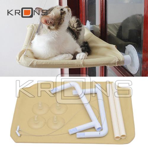 Лежак гамак на окно оконный для кота котов лежанка до 15кг