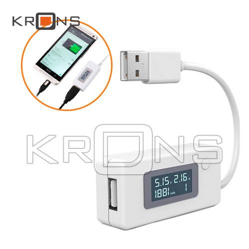 USB тестер тока, напряжения, потребляемой энергии