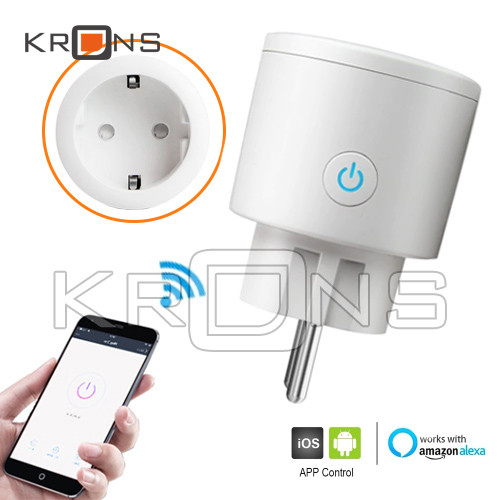 Розумна Wi-Fi розетка 220В 16А тижневий таймер Smart Life BSD23