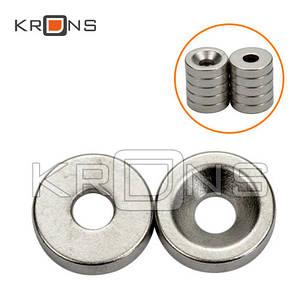 Магниты неодимовые 10 шт. крепежные 10x3мм N50 с отверстием зенковкой 3мм