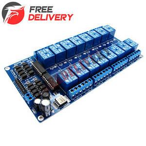 16-канальный модуль реле 12V для Arduino PIC ARM