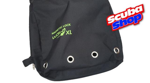 Сумка для раков WGH Сordura Magnetic Pro XL (цвет черный, люверсы)