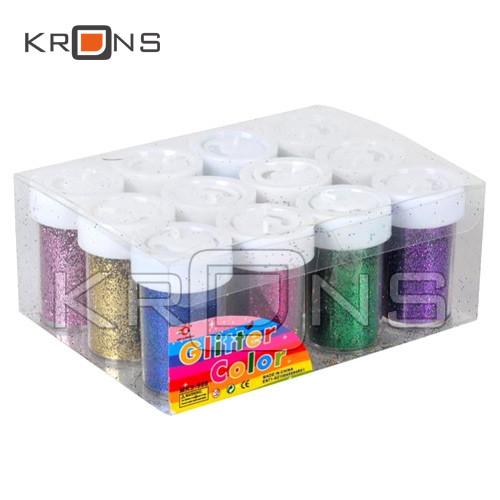 Гліттер декоративні блискітки 12х12г 12 кольорів, для нігтів, нейл-арту