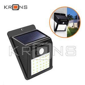 Уличный LED фонарь светильник на солнечной батарее с датчиком движения