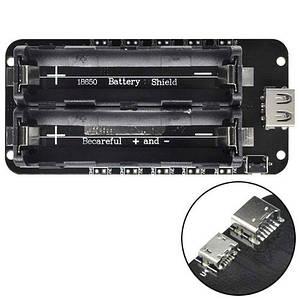 Battery Shield V8 для питания Arduino ESP8266 ESP32, 2x 18650 зарядное