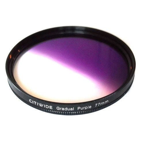 Цветной фильтр 77мм фиолетовый градиент, CITIWIDE