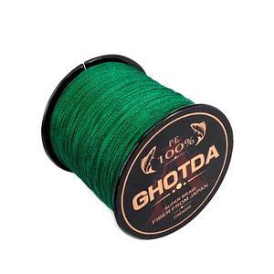 Шнур плетеный рыболовный 300м 0.13мм 5.4кг GHOTDA, зеленый