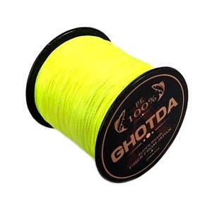 Шнур плетеный рыболовный 300м 0.16мм 8.2кг GHOTDA, желтый