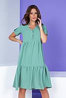 Арт. 403 Платье свободное цвет шалфей, фото 1