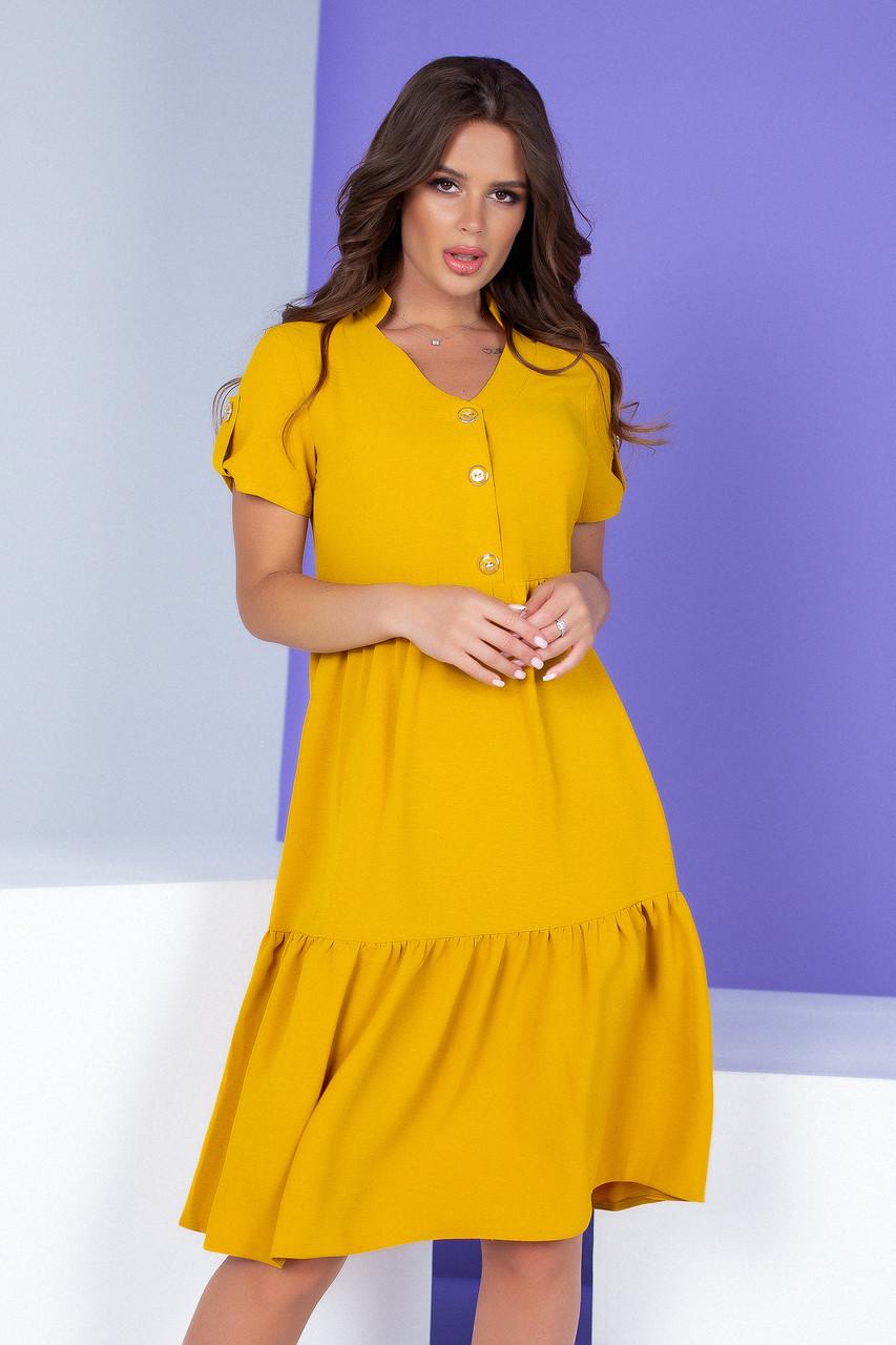 Арт. 403 вільне Плаття жовтого кольору